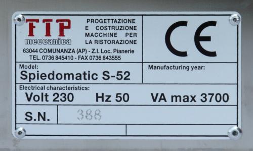 cuoci arrostino elettrico etichetta